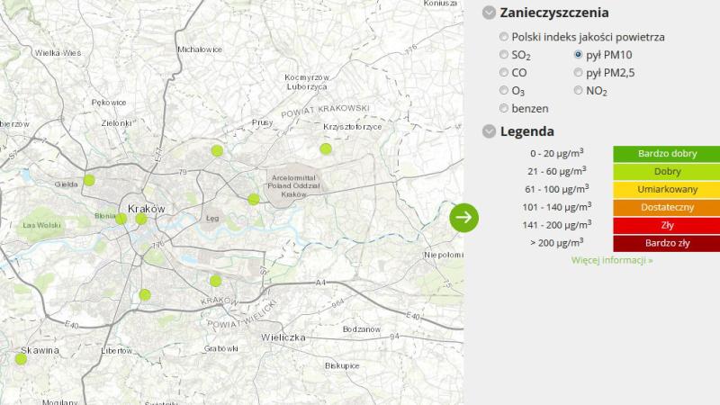 Jakość powietrza w Krakowie