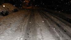 Śnieg w Ustrzykach Dolnych (Kontakt 24/Ania Z)