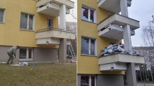 Po kilkunastu latach wziął się za porządki. Śmieci znikają z balkonu