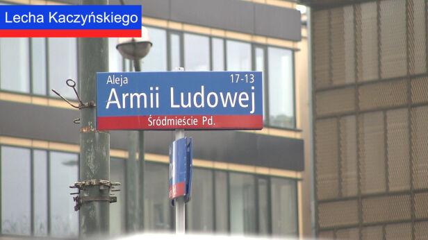 Ulica Lecha Kaczyńskiego, dawniej aleja Armii Ludowej TVN24