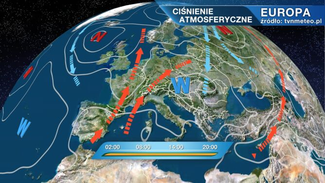 Wyż Vera kształtuje pogodę w Polsce