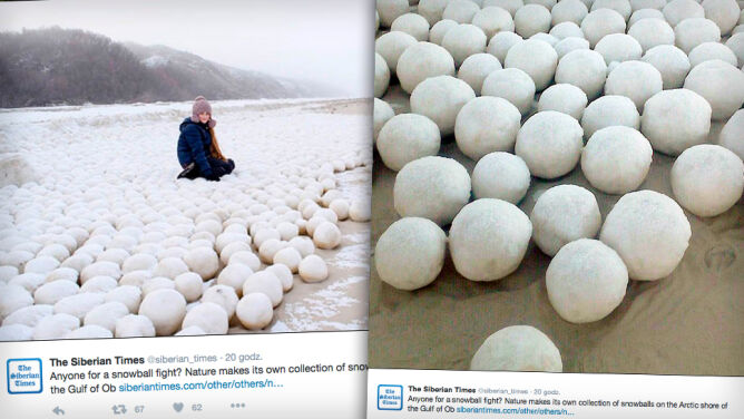 Tysiące lodowych kul na wybrzeżu Syberii. Skąd się tam wzięły?