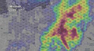 Potencjalny rozwój burz w ciągu pięciu dniu (Ventusky.com) | wideo bez dźwięku